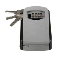 STEEL OUTDOOR WALL KEY BOX WITH COMBINATION STORE KEYS HIGH SECURITY LOCK Home SAFE