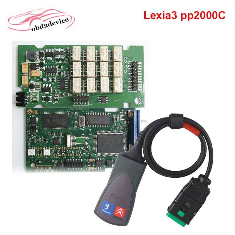 Цена за Высокое качество Lexia полный чип Lexia 3 V48 Diagbox V 7.65 PP2000C V25 Lexia3 прошивки для Citroen Peugeot Бесплатная доставка