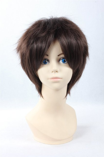 Attack on Titan Jager Style Anime Cosplay Wig Brown Party Hair