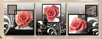 3pcs Full Round 5D DIY Diamond Painting Pink Rose Wall Picture Diamond Embroidery Rose Cross Stitch