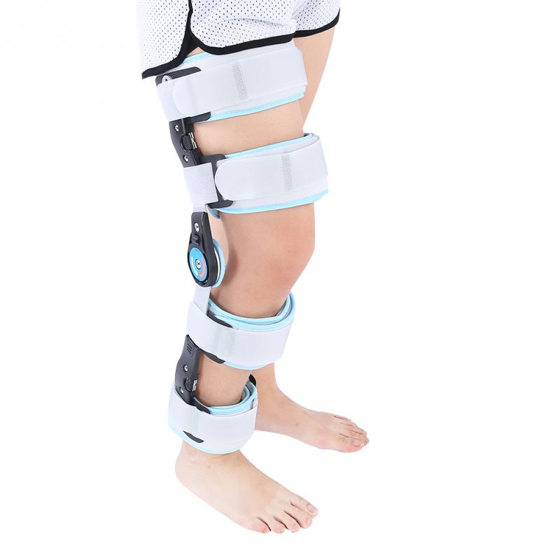 Hinged ROM Knee Brace Adjustable Surgical Fixation Stabilization Fracture Support kifit rom medical grade 0 120 degrees adjustable hinged knee leg brace support