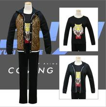 Yuri!!! on Ice Plisetsky Yuri Leopard Hoodie Coat Shirt tShirt Cosplay Costume Jacket Punk Tiger