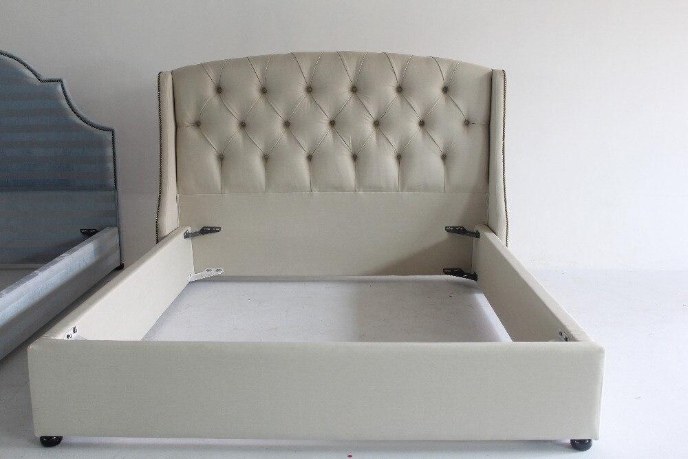 La reina Isabel de estilo de nieve marco de tela cama muebles de ...