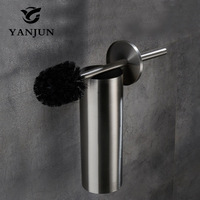 Yanjun European Style Brass Toilet Brush Holder Bathroom Accessories WC Brush With A Long Handle For The Toilet YJ 7562