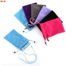 LELOZI Fundas Carcasas Capinhas Phone Strap Cell Pouch Bag Neck Sleeve Case Mobile New For Iphone 6 Plus  6 Colors