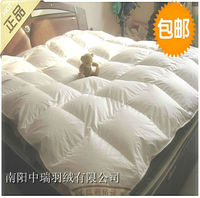 Single quilt 95% white goose down quilt & winter quilt comfortble 180*220cm filled 1000g goose down /paypal accepted