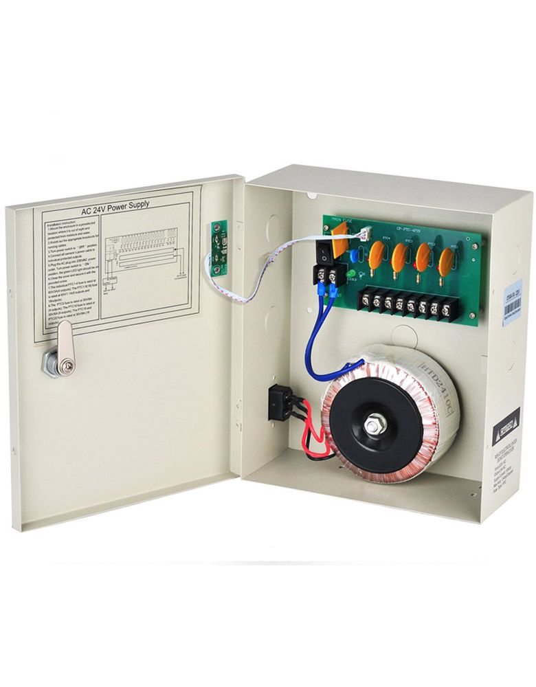 AC 24v CCTV Power Supply 10A 4 Channels Boxed Security Power Distribution 220V/110V AC 240W