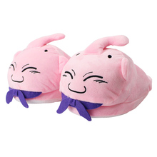 30cm Dragon Ball Z Plush Slippers Majin Buu Soft Stuffed Shoes Warm Win