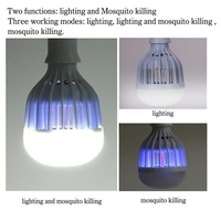 LED Mosquito Fly Bugs Uv Light Killer Lamp With 10w 1000Lumen White Light 110v 220V