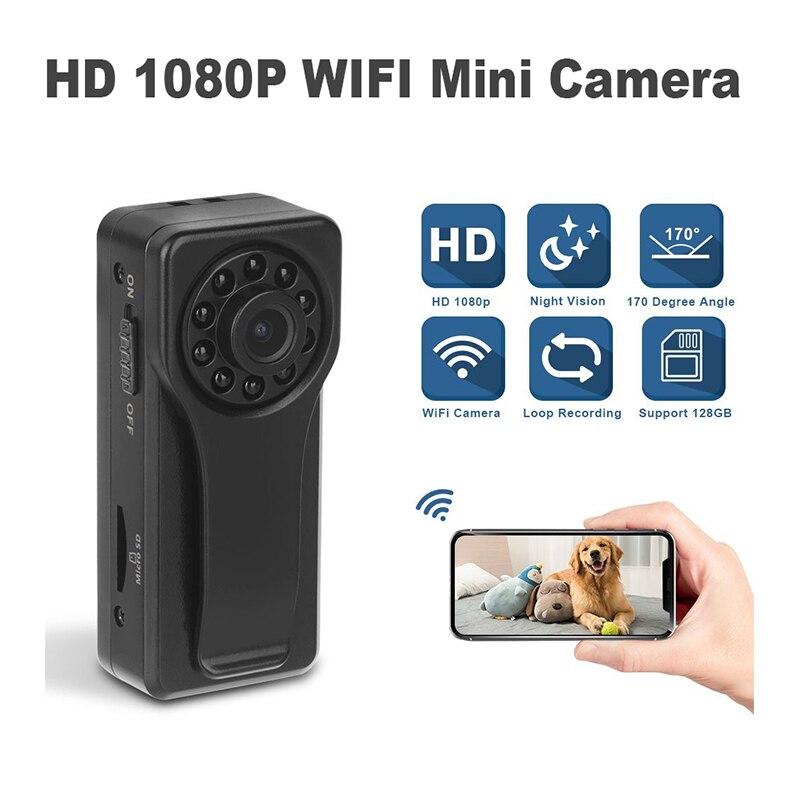 WIFI Mini A6 caméra corps porté caméras 170 degrés enregistreur vidéo de sécurité poche caméra de Police HD 1080P sans fil IP Camare Dashcam