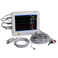 Health Care Blood Pressure 8 Inch ICU CCU Vital Sign Patient Monitor 6 parameter ECG NIBP RESP TEMP SPO2 PR