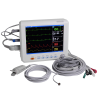 Health Care Blood Pressure 8 Inch ICU CCU Vital Sign Patient Monitor 6 parameter ECG NIBP RESP TEMP SPO2 PR
