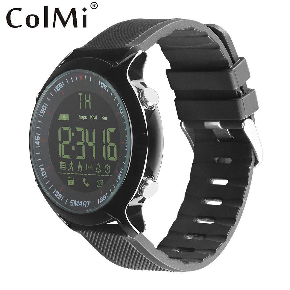 ColMi 5ATM Reloj Inteligente A Prueba de Agua IP68 Pasómetro Mensaje Recordatorio Ultra-larga Espera Xwatch Smartwatch Natación Deporte Al Aire Libre