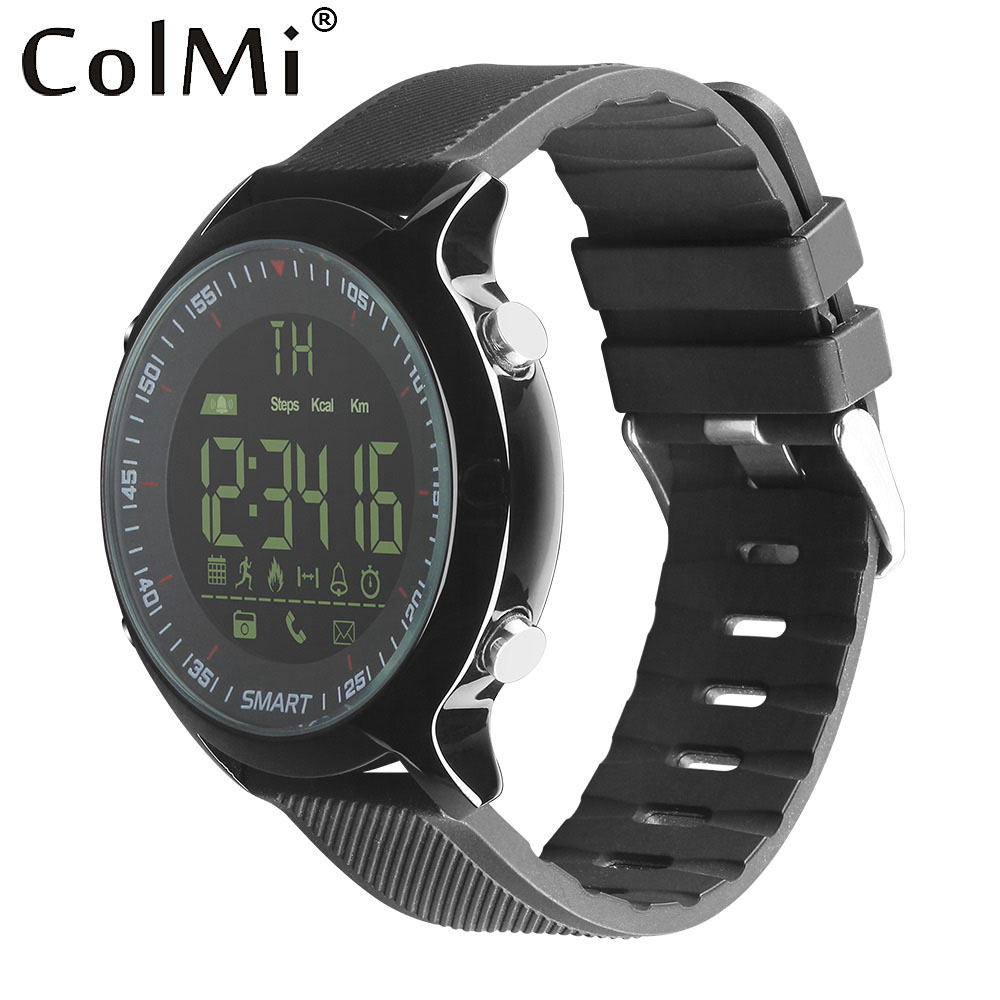 Colmi relógio inteligente à prova dip68 água ip68 5atm passometer lembrete de mensagem ultra-longo à espera xwatch natação ao ar livre esporte smartwatch