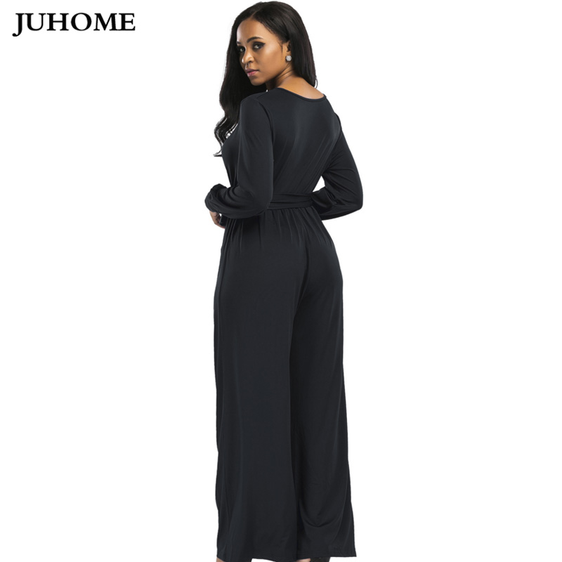 ea9d520966ad fashion nova Garden long jumpsuits 2018 autumn winter pink wide leg flare  trousers Casual Party Elegant women rompers overalls-in Jumpsuits from  Women s ...