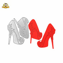 Cutting Dies Heels Shoes Metal Die For Scrapbooking Album Card Making Paper Cut Craft New Fustelle Handmade