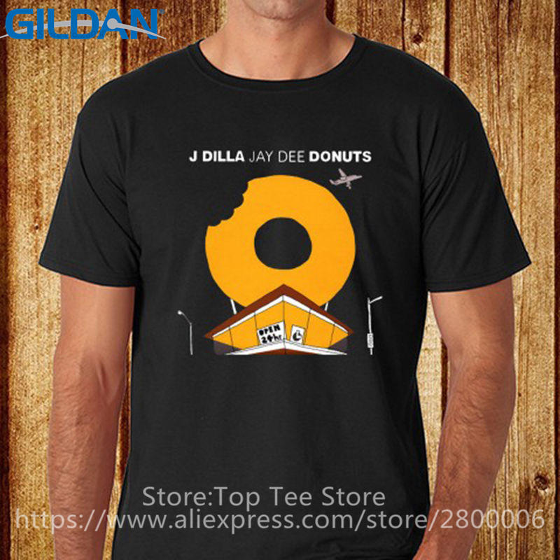 Stranger Things Print T Shirts Original Short Men New Style Crew Neck Trend J Dilla Jay Dee Donuts Rap Music Tee Shirt in T Shirts from Men 39 s Clothing