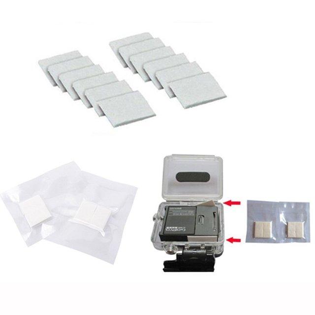 60 ชิ้น/ล็อตสำหรับ Gopro Anti   Fog Inserts Anti หมอกรีไซเคิลแห้งสำหรับ Gopro Hero 6 5 4 3 + 3 2 SJCAM Xiaomi yi Action Camera