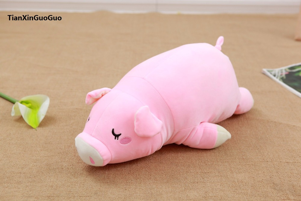 new arrival cartoon proen pink pig plush toy large 60cm soft doll throw pillow birthday gift w2910 huge 140cm cartoon pink hippo plush toy soft throw pillow birthday gift b2800