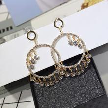 Роскошные блестящие серьги кольца ajojewel с геометрическим