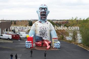 Envío Gratis 5m de alto Halloween decoración inflable zombie/walking dead para equipo publicitario