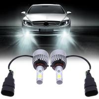 2Pcs Lot H7 COB LED Car Headlight Bulb VTX S2 9005W COB 8000LM DC9V 32V 6500K
