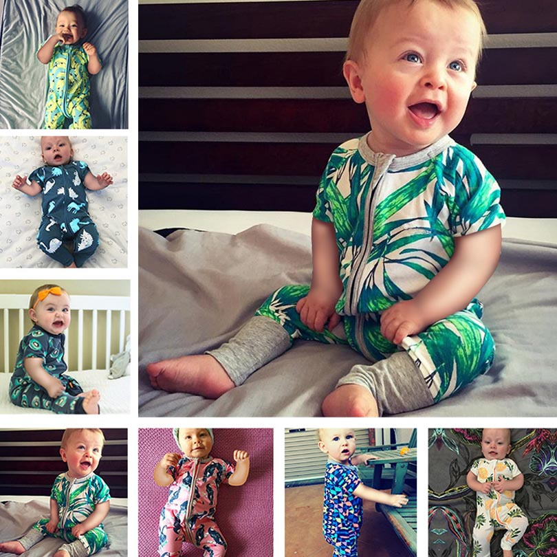 Autumn Bebe Boys Girls Cotton   Romper   Cartoon Baby Short Sleeve Jumpsuit 2019 Summer Toddler Newborn Kids Clothing Zipper   Rompers