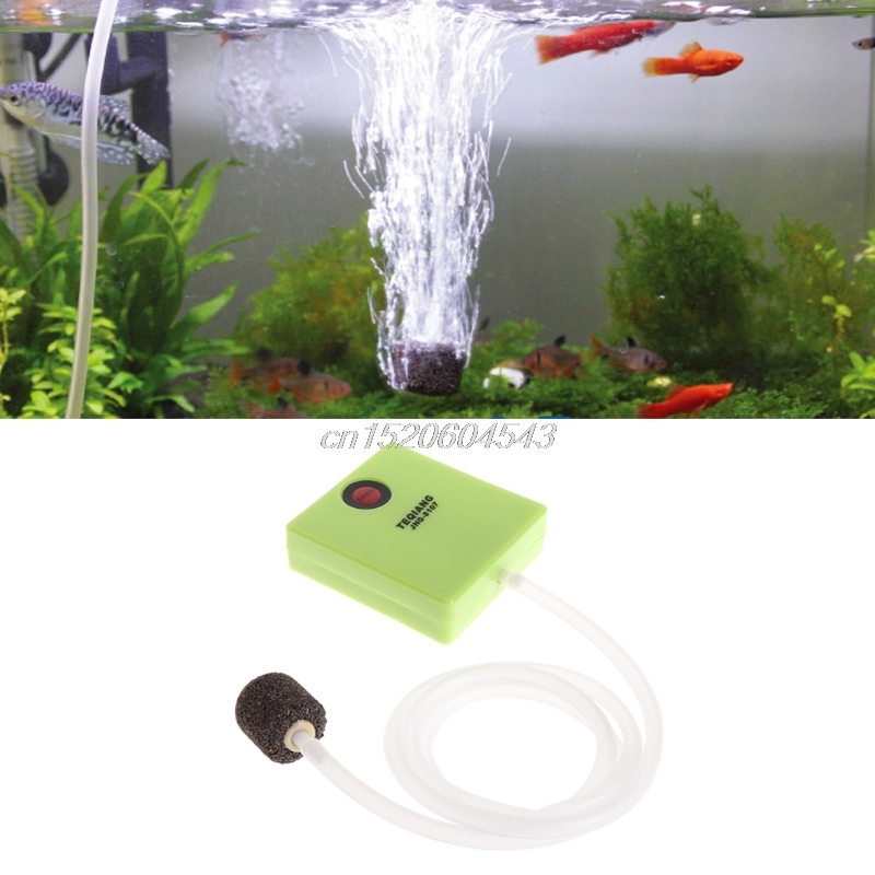 Ultra Silent Aquarium Air Pump Mini Single Outlet Dry Cell Battery Operated Fish Tank Oxygen Pump Air Compressor Outdoor R06