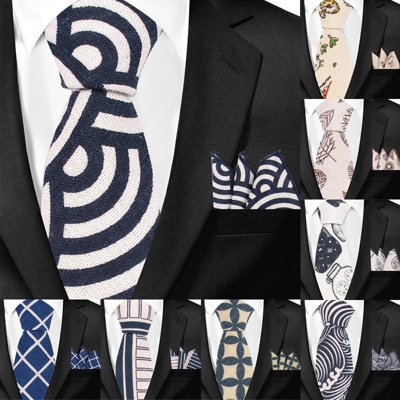 Various Colors Gift Sets Mens Floral Print Cotton Tie Set : Necktie with Pocket Square Wedding