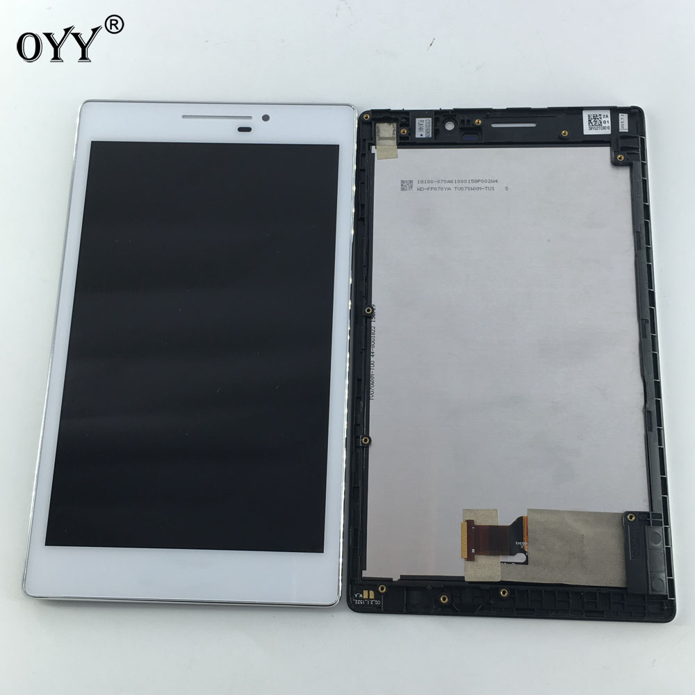 LCD Display Panel Screen Monitor Touch Screen Digitizer Glass Assembly with frame For Asus Zenpad 7.0 Z370 Z370CG Z370KL used parts lcd display monitor touch screen panel digitizer assembly frame for asus memo pad smart me301 me301t k001 tf301t