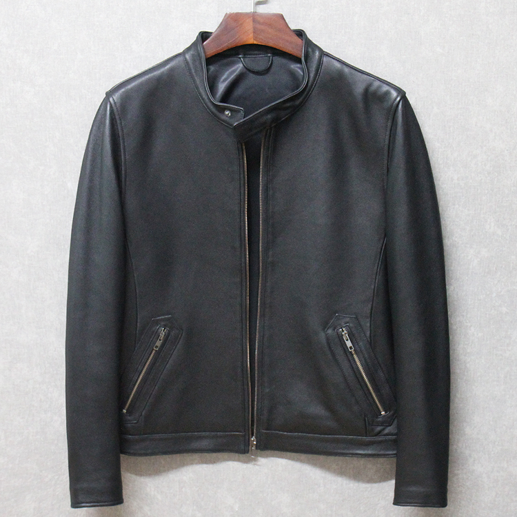 Free Shipping.sales Brand Classic Men Sheepskin Jackets,men's Genuine Leather Jacket.fashion Casual Business Coat,man Plus Size