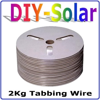 2Kg Solar Cell Tabbing Wire, Solar Cell PV Ribbon, 100% Quality Certification solar cells soldering wire DIY making Solar Panel