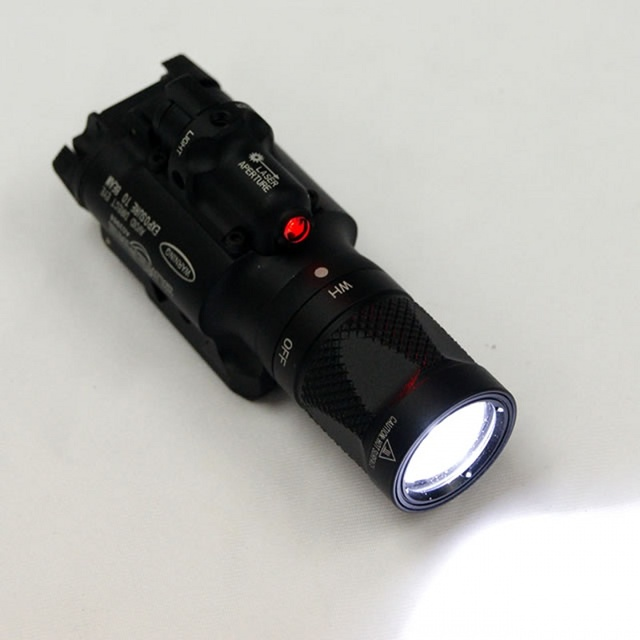 CQC Tactical X400V Weapon Light With Red Laser LED Pistol Flashlight Airsoft Paintball Hunting Shooting Gun Light