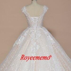 Image 5 - Свадебное платье с рукавом крылышком, блестящее Роскошное винтажное свадебное платье
