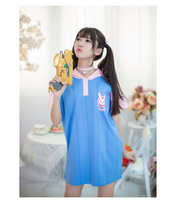 High Quality LOVELY Rabbit New Game Character OW D VA Loose Long Section T Shirt Summer