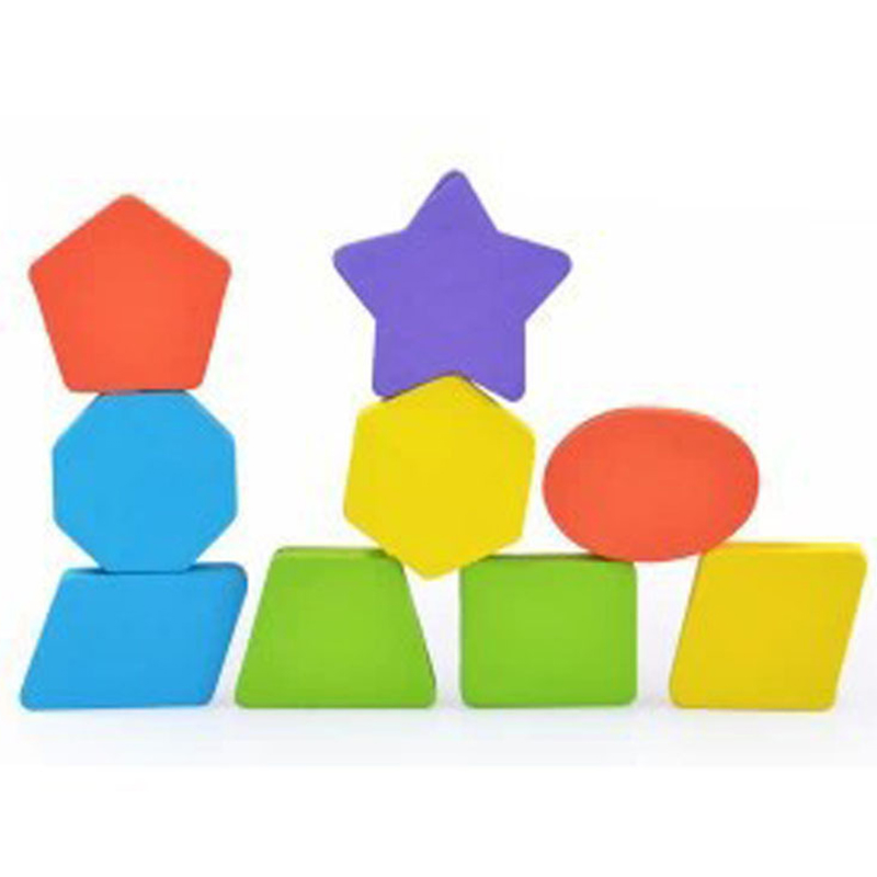 Wooden Kids Toys Colorful 3D Puzzle Geometry Early Learning Educational Toys for Children Wood Toy Puzzles Kids Games