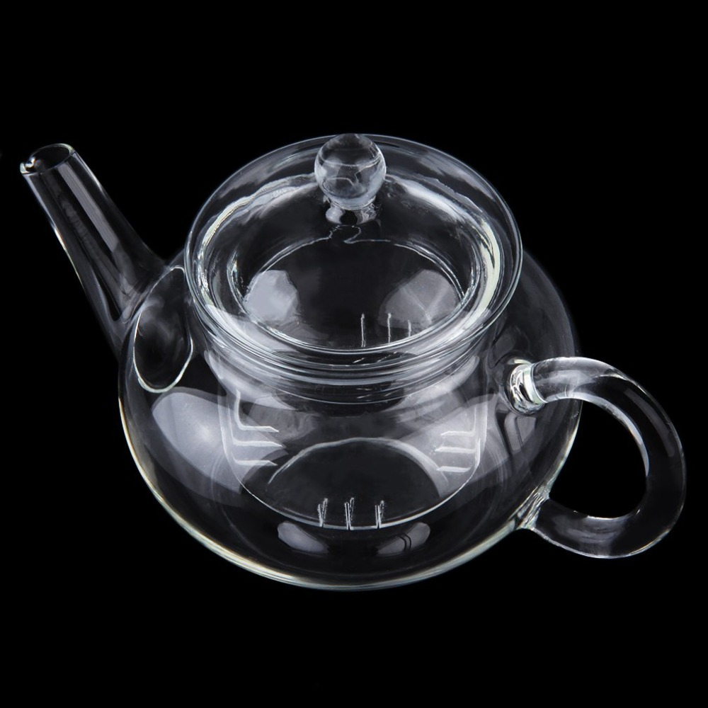 250ml Durable Transparent Teapot Heat Resistant Glass Kettle With Infuser Coffee Flower Tea Leaf Herbal Pot Multi Use 1pc teapot pot shape stainless steel leaf tea infuser filter strainer ball spoon strainer infuser tea spoon shaped teapot