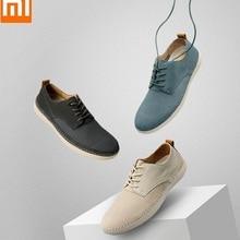 Xiaomi/модная мужская кожаная повседневная обувь; мягкие удобные и дышащие деловые ботинок из воловьей кожи на резиновой подошве