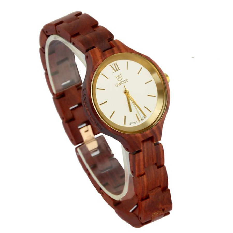 Hot! 2017 New Women Wooden Watch Casual Red Sandal Wood Watch Gold Swiss Movement Quartz Wooden Wristwatch Rare Slim Unique GiftHot! 2017 New Women Wooden Watch Casual Red Sandal Wood Watch Gold Swiss Movement Quartz Wooden Wristwatch Rare Slim Unique Gift
