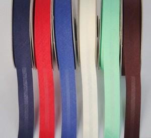 Ширина 15 мм (5/8 дюйма), гладкий, однослойный, хлопок, уклонистая лента/переплет для одежды, скатерть, одеяло, рукоделие, шитье
