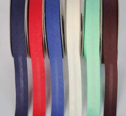 """15mm (5/8 """") de ancho, planchado, plegado único, cinta de algodón al polarización, encuadernación para prendas, mantel, colcha, artesanía, costura diy"""