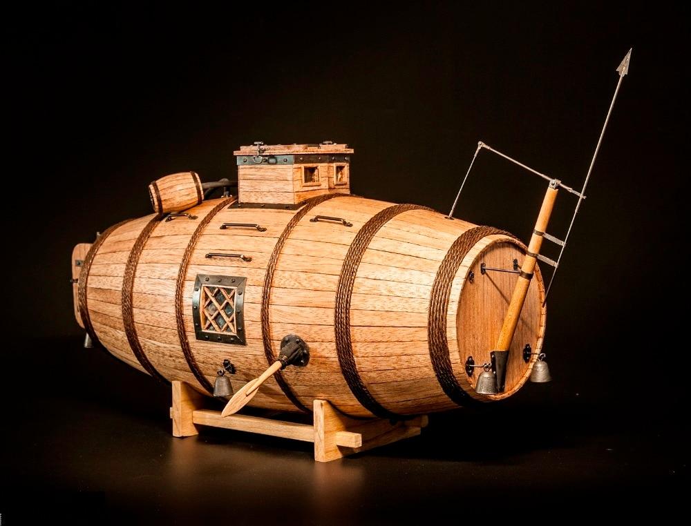 NIDALE Model Sale 1 N Laser cut Wooden model Kits The earliest submarine wood model English