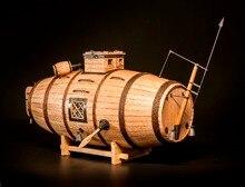 Nidaleモデル販売1/nレーザーカットの木製模型キット最古潜水艦木材モデル英語命令