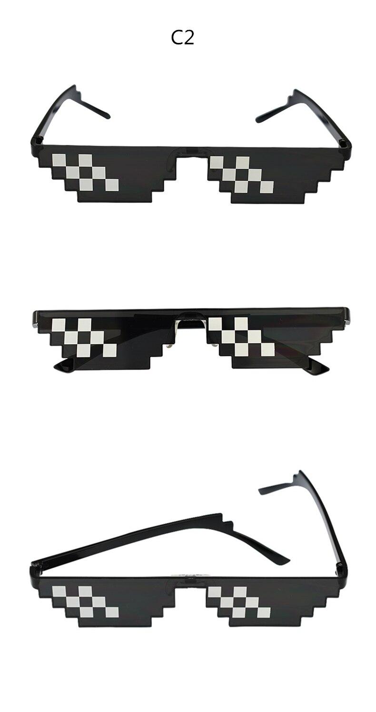 cb106acf8d0d Vintage Glasses 8 Bit MLG Pixelated Sunglasses Men Women Brand ...