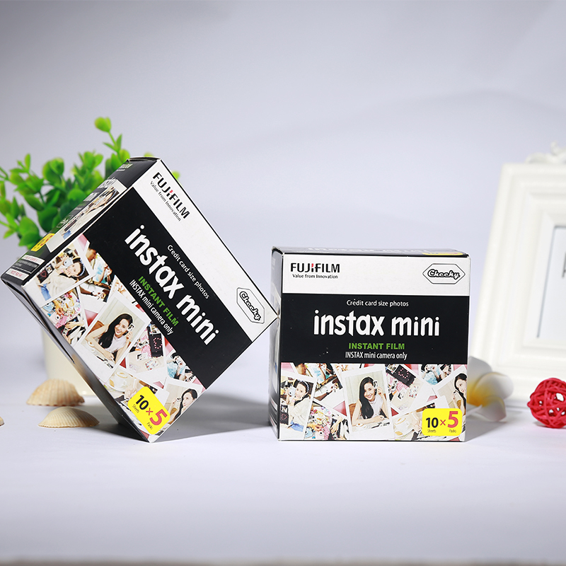Genuine 100 Sheets White Edge Fuji Fujifilm Instax Mini 8 Film For 8 50s 7s 7 90 25 Share SP-1 Instant Camera Fast Free Shipping original fuji fujifilm instax mini 8 film white edge photo papers for polaroid 7s 90 25 55 share sp 1 instant camera 50 sheets