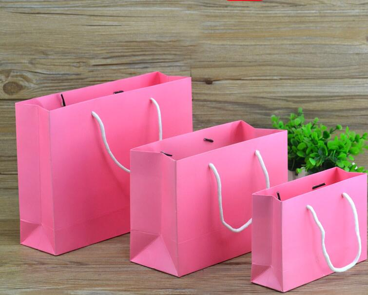 Black Gift Bags With Handles Small Paper Shopping Bags