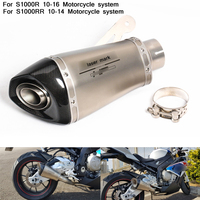 60mm Motorcycle Modified Exhaust Muffler Pipe System With DB Killer Silp on for bmw S1000R 2010 2011 2012 2013 2014 2015 2016