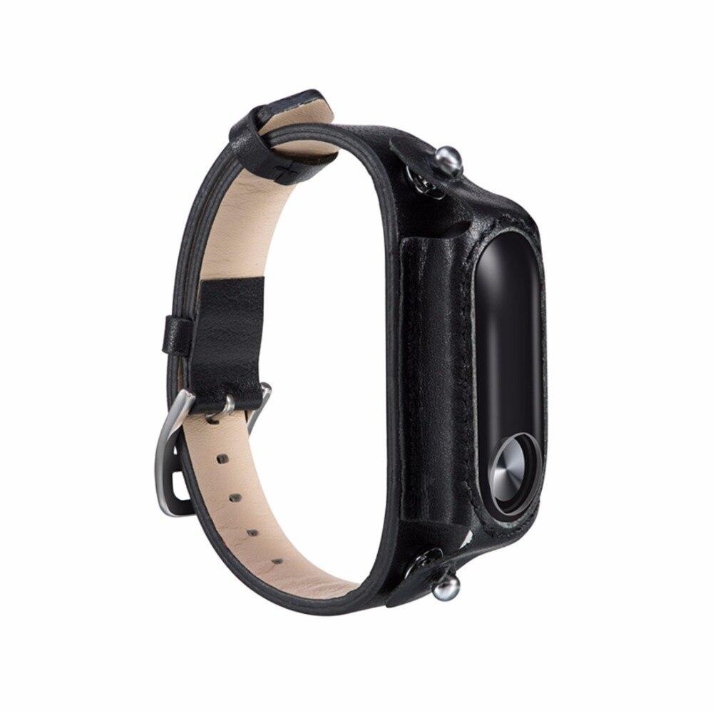 все цены на Miband 2 Strap For Xiaomi Mi Band 2 Genuine Leather Strap Screwless Miband 2 Bracelet Wristbands Pulseira Miband2
