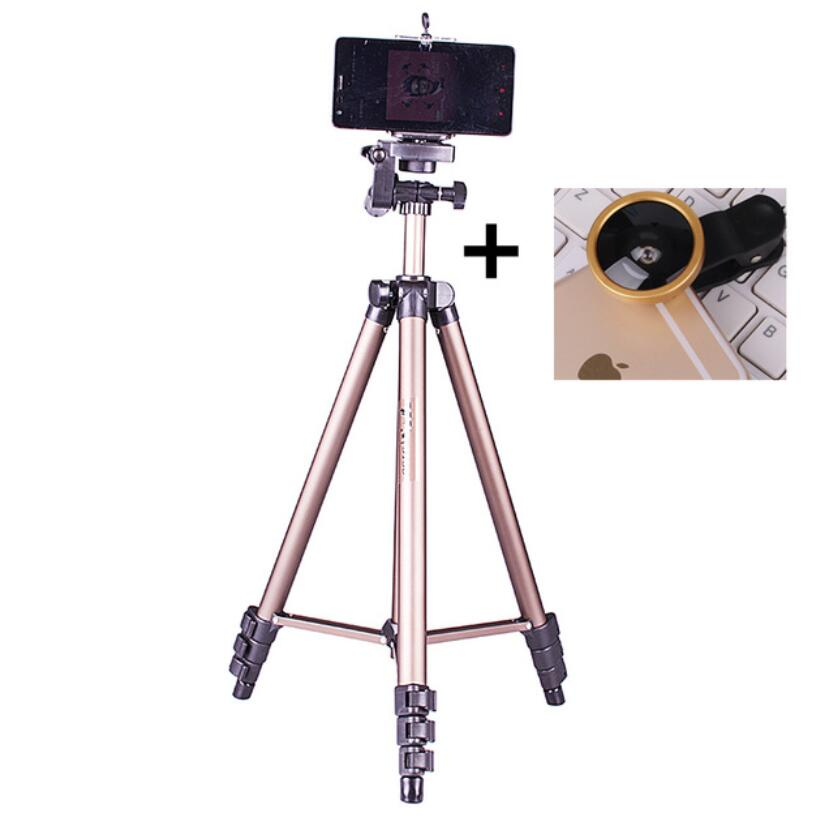 DIGITALFOTO WT3130A Smartphone tripod portable travel DSLR camera tripod with wide lens or shutter control