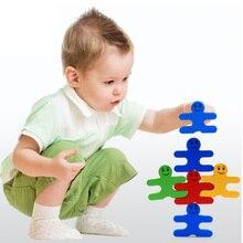 Baby Toys 16pcs/set Balancing Blocks Wooden Toys Colorful Wood Balance Game Building Blocks Educational Gift for Kids недорого